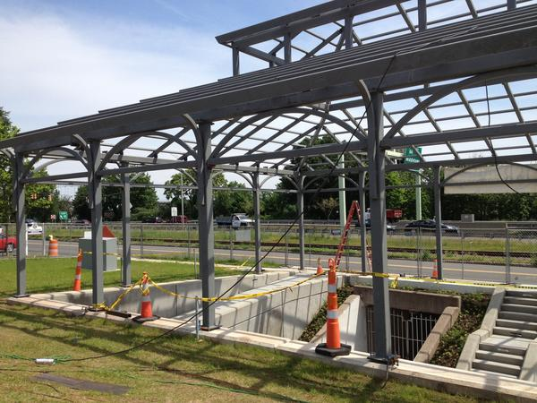 The revamped tunnel under Route 9 to Harbor Park in Middletown will have a handicap ramp and a steel canopy covering the tunnel's deKoven Drive entrance.