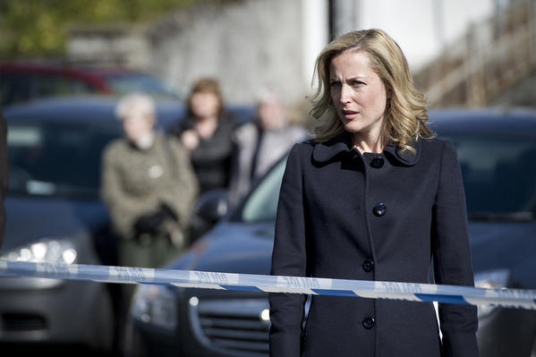 photo of Gillian Anderson as Stella Gibson in the BBC series, The Fall, which is currently streaming on Netflix US.