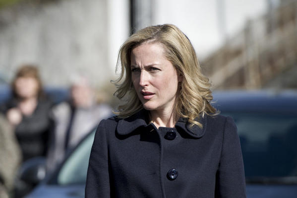 "Gillian Anderson plays a police detective hunting a serial killer in the Belfast-set, Netflix-streamed series ""The Fall."""