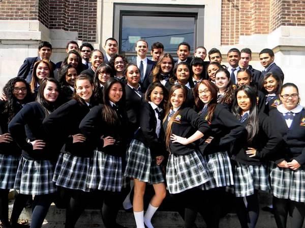 Roberto Clemente Charter School Class of 2013.