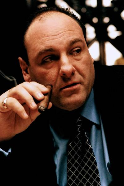 THE SOPRANOS 2002: James Gandolfini who plays Tony Soprano. photo: Barry Wetcher/HBO PHOTO.