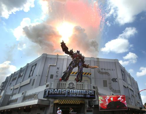 Grand opening ceremonies for Transformers ride at Universal Studios. .June 20, 2013.B583001381Z.1.(George Skene/Orlando Sentinel)