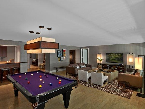 The newly completed Sake suites at Nobu feature billiard tables in the spacious living rooms.