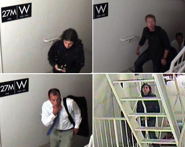Three unknown male white offenders entered a Trump Tower in Chicago's Loop and forced entry to the top floor. The offenders adorned parachutes and jumped from the roof top.