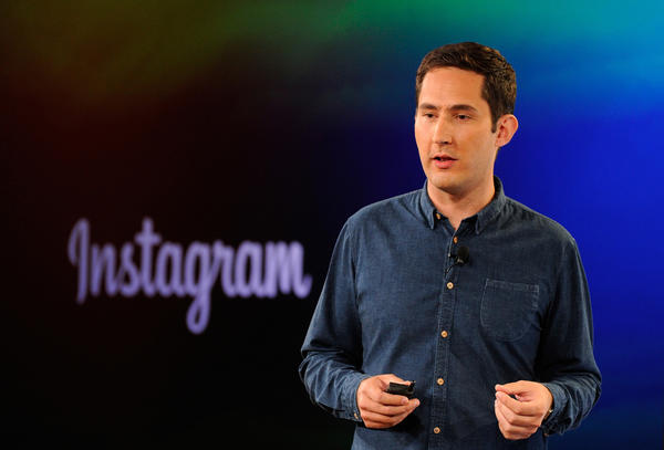 Kevin Systrom, chief executive officer and co-founder of Instagram Inc., speaks during an event at the Facebook Inc. headquarters in Menlo Park, California.