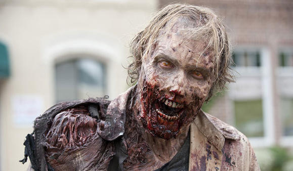 "One of ""The Walking Dead's"" many zombies"