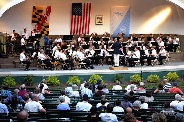 The Hagerstown Municipal Band performing, at the Hagerstown City Park.