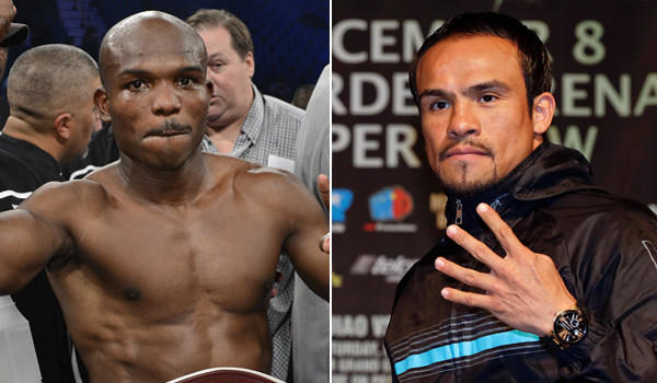 Timothy Bradley, left, says he won't fight Juan Manuel Marquez, right, if his opponent doesn't agree to drug testing.
