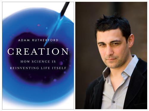 "The cover of ""Creation: How Science is Reinventing Life Itself"" and author Adam Rutherford."