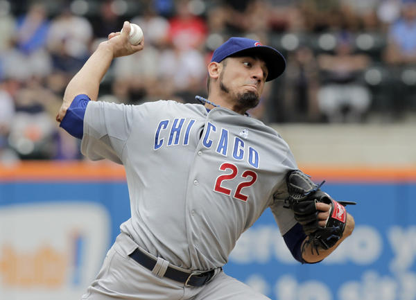 Matt Garza pitches against the Mets during their game on June 16, at Citi Field