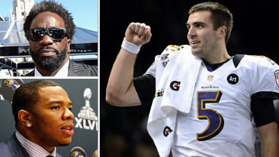 Joe Flacco, Ed Reed, Ray Rice named to NFL Network top 100 list