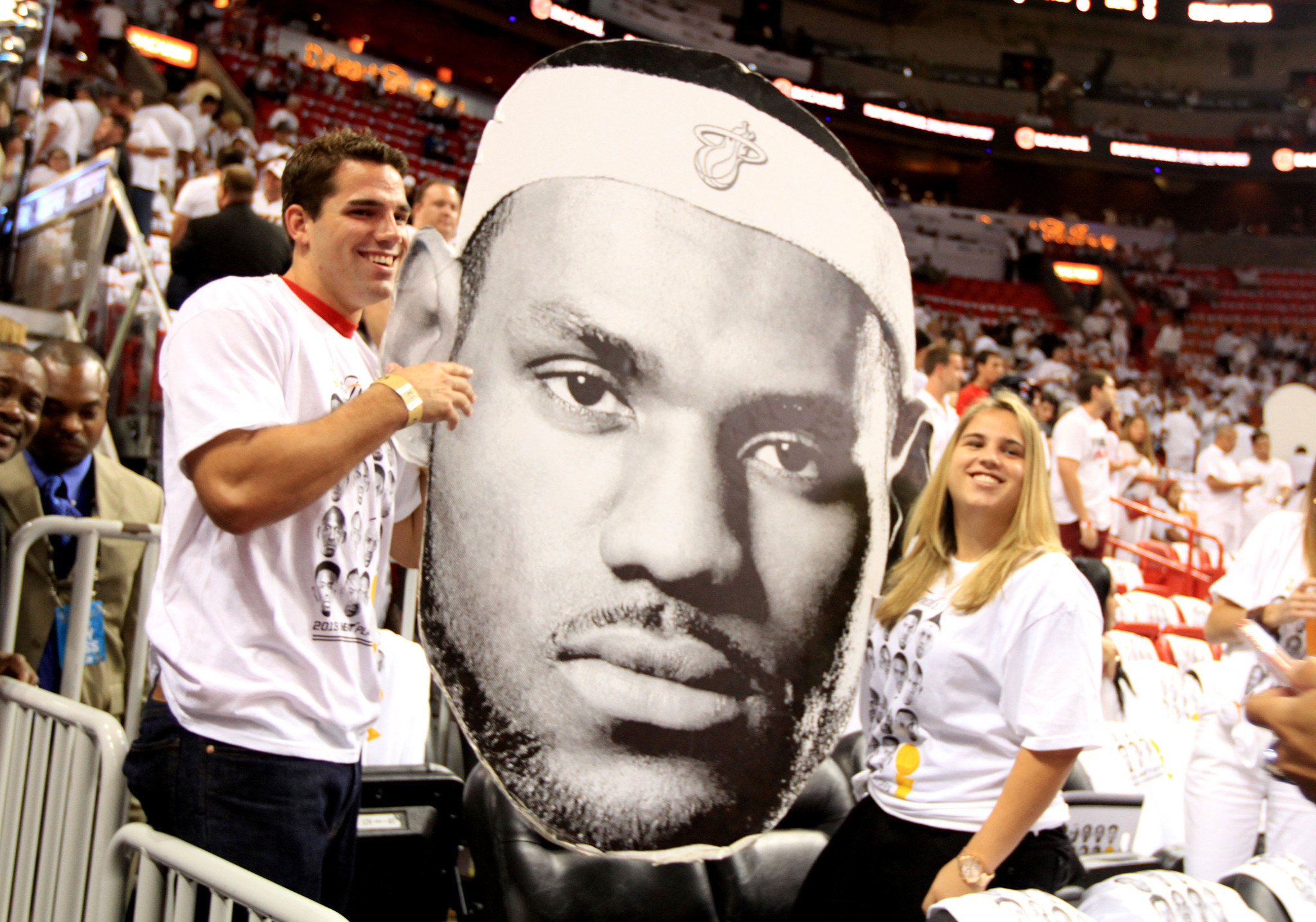 White Hot Heat Fans Game 7 - Big Head
