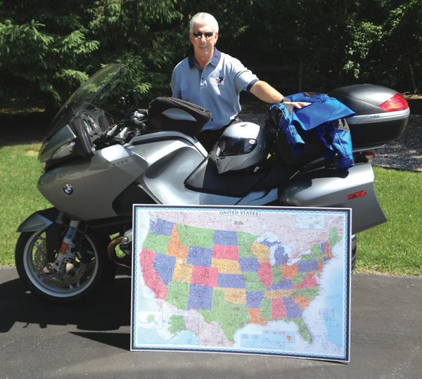 Randy Ward, 59, of State Line, Pa., will be leaving June 21, 2013, for a monthlong motorcycle ride in which he plans to ride through the 48 states in the continental United States.