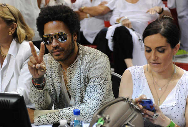 White Hot Heat Fans Game 7 - Lenny Kravitz