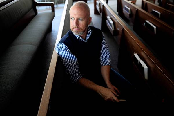 Alan Chambers, president of Exodus International, is shown at Concordia University in Irvine. Exodus, the oldest and largest Christian ministry dealing with faith and homosexuality, will close its doors after three-plus decades of ministry.