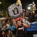 Miami Heat Fans Watch Final Game Of NBA Finals