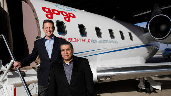 Gogo President and CEO Michael Small, left, and Executive Vice President Norman Smagley.
