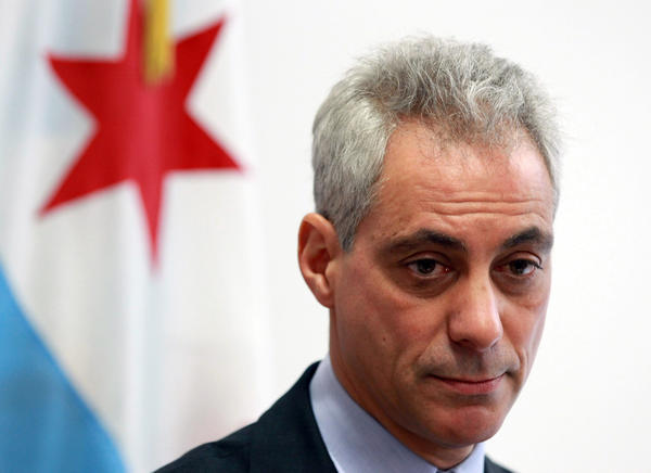 Mayor Rahm Emanuel, seen here last week, was one of 18 mayors who supported in a letter limiting access to sugary drinks for those on public aid.
