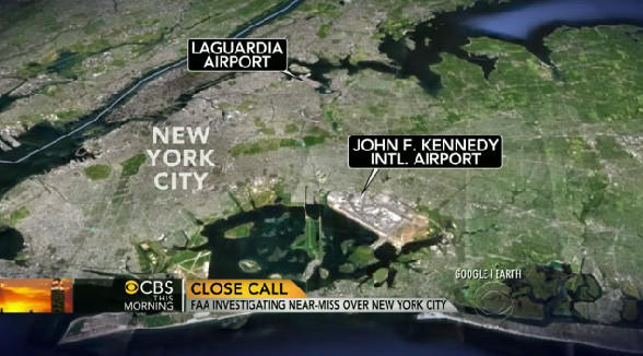 The FAA is investigating a near-collision over New York that occurred on July 13.