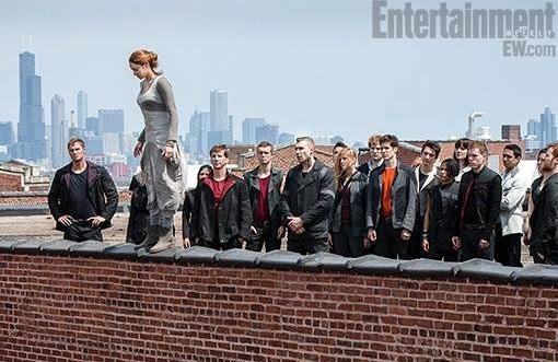 """Divergent,"" currently filming in Chicago and starring Shailene Woodley (standing on ledge), is looking for extras."