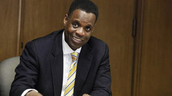 Emergency Manager Kevyn Orr addresses the media in March in Detroit.