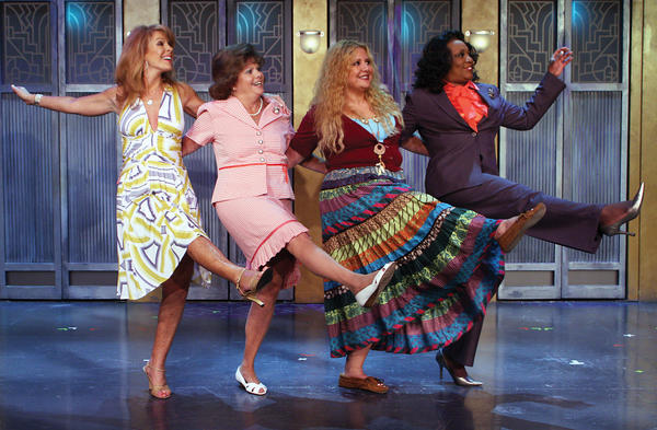 The characters in Menopause The Musical include a fading soap opera star, a forceful executive, an Iowa housewife and an ex-hippie.