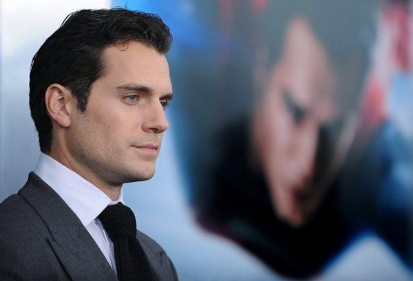 """Man of Steel"" star Henry Cavill attends the film's world premiere at Lincoln Center in New York."