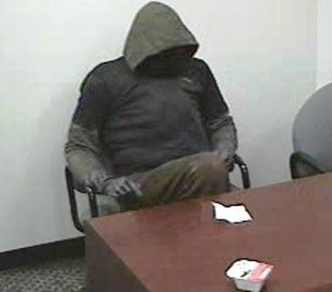 The person suspected of robbing the People's United Bank at Tri-City Plaza in Vernon Circle Friday.