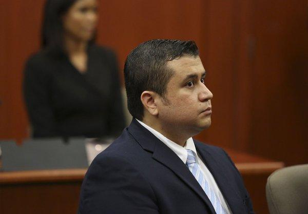 George Zimmerman, charged with second-degree murder in the 2012 shooting death of 17-year-old Trayvon Martin, looks at the potential jurors during his trial.