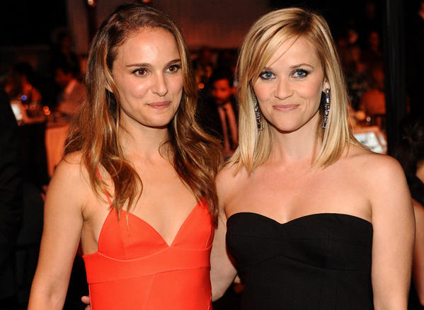 Natalie Portman and Reese Witherspoon at the 2013 Los Angeles Dance Project Benefit Gala.