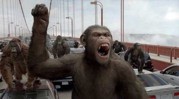 "A scene from 2011's ""Rise of the Planet of the Apes."" Another ""Planet of the Apes"" spinoff is due next May 23."