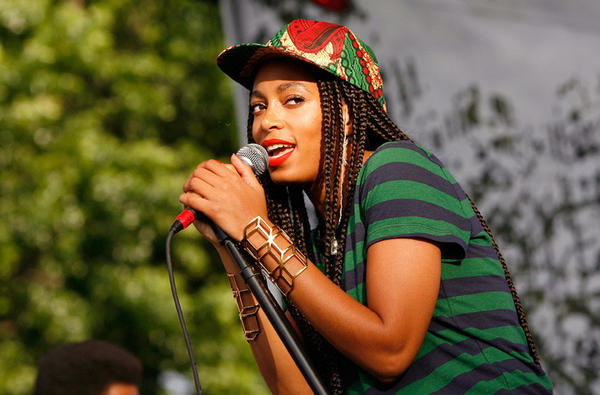 Solange Knowles, who turns 27 June 24, performs during the 2013 Northside Festival at McCarren Park in Brooklyn on June 16.