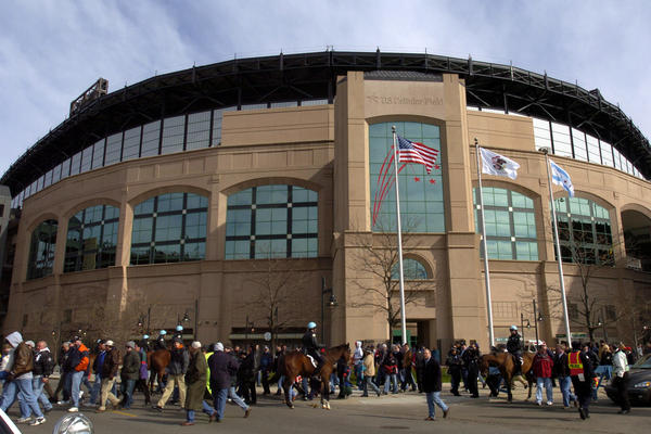 New upper deck renovations at Sox home opener Tuesday at U.S. Cellular Field in Chicago in 2004.