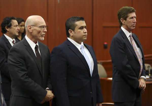George Zimmerman, seen here in court with his defense counsel, Don West, left, and Mark O'Mara, is charged with second-degree murder in the February 2012 shooting death of 17-year-old Trayvon Martin.