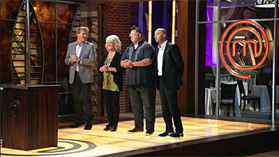 "Paula Deen on the set of Fox's ""MasterChef."""