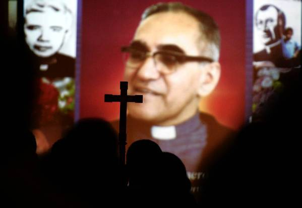 Archbishop Oscar Romero of El Salvador is remembered during a 2005 Mass at the Dolores Mission in Los Angeles, commemorating the 25th anniversary of his assassination.