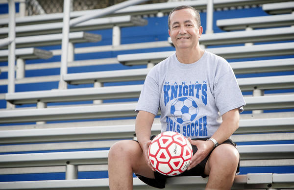 Marian girls soccer coach D.J. Charmat, who helped lead the Knights to a state title, is the Tribune's Coach of the Year for girls sports in Indiana.