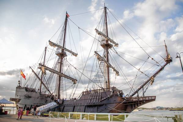 El Galeon, a Spanish tall-ship, visited Port Canaveral in May as part of a yearlong celebration of the 500th anniversary of Spanish explorers' arrival on Florida shores.