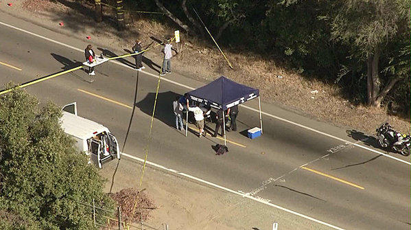 A body was found inside a trash can in Brea.