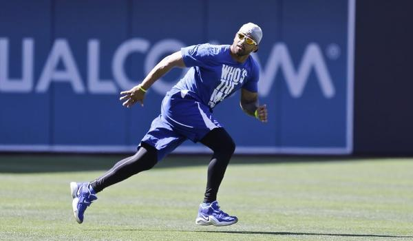 In Matt Kemp's first rehabilitation start with triple-A Albuquerque, the Dodgers center fielder went hitless in five at-bats with four strikeouts.