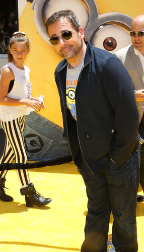 """Actor Steve Carell attends the premiere of Universal Pictures' """"Despicable Me 2"""" at the Gibson Amphitheatre in Universal City, California."""