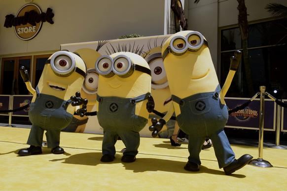 Minions arrive for the U.S. premiere of