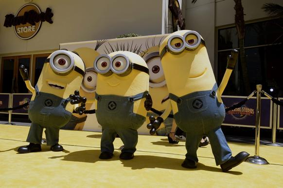 "Minions arrive for the U.S. premiere of ""Despicable Me 2"" at Universal City Walk in Universal City, California."