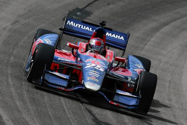 Nazareth native Marco Andretti took ninth at the Iowa Corn 250 on Sunday, and is in third place in the standings.