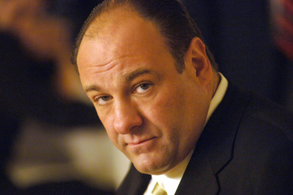 "James Gandolfini as Tony Soprano, head of the New Jersey crime family portrayed in HBO's ""The Sopranos."""
