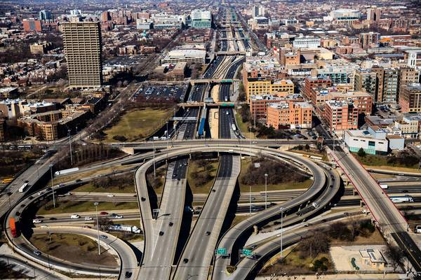 The outmoded design of the Circle Interchange, where the Eisenhower, Dan Ryan and Kennedy expressways intersect, is blamed by transportation officials for the average three accidents per day at the junction. The Illinois Department of Transportation has proposed a nearly $500 million reconstruction of the interchange.
