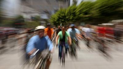 CicLAvia: A more relaxed vibe as more people walked