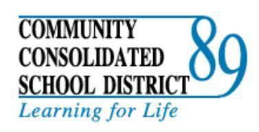 The logo of Community Consolidated School District 89.