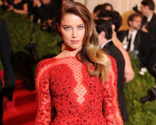 Actress Amber Heard at the 2013 Met Costume Gala