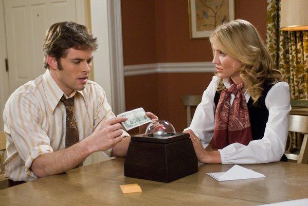 "James Marsden and Cameron Diaz in Richard Kelly's ""The Box,"" based on the short story ""Button, Button"" by Richard Matheson."